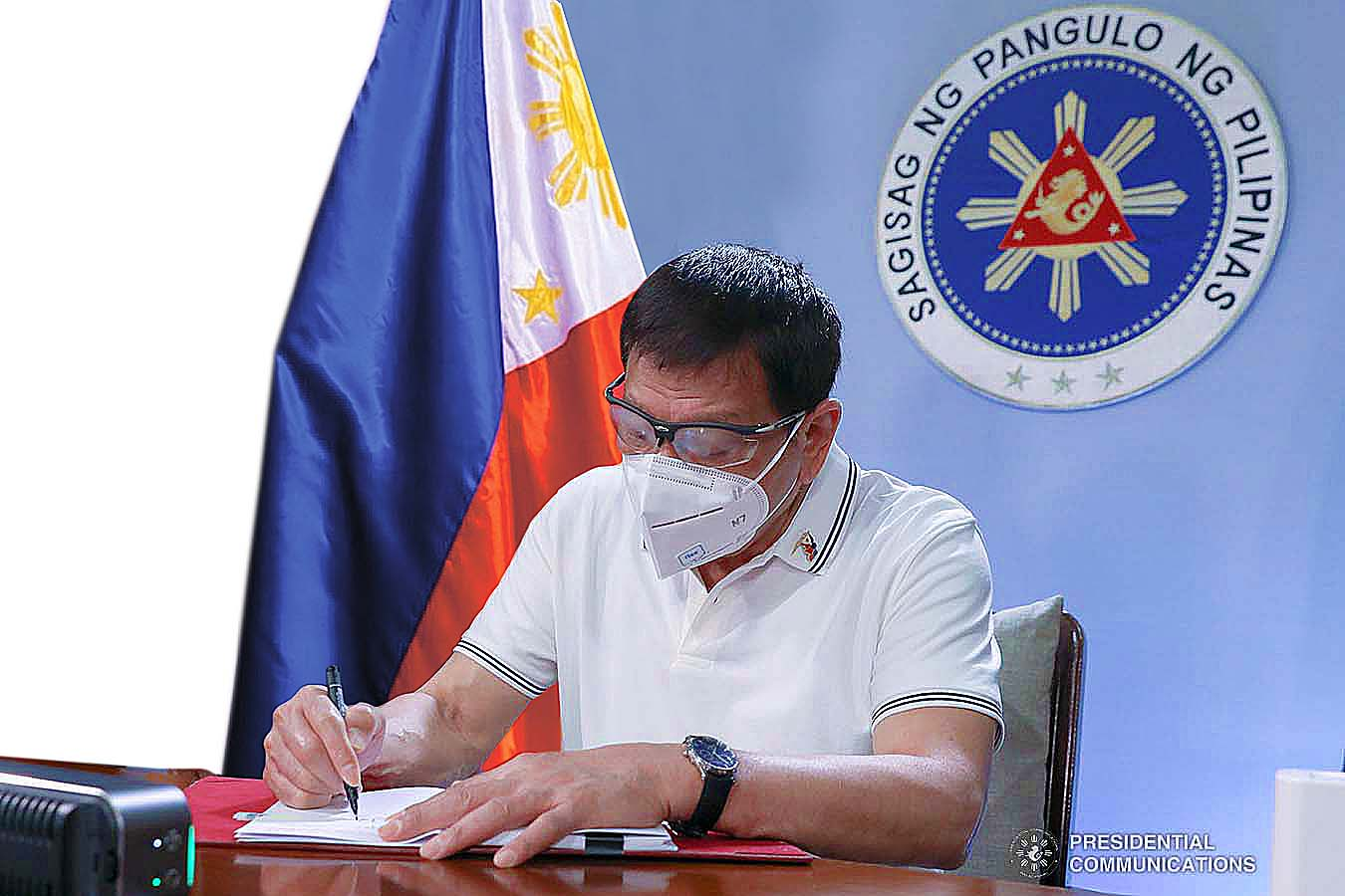 President Rodrigo Roa Duterte signed into law Friday (Feb. 26, 2021) a legislation creating a trust fund for the country's coconut industry and its workers. PCOO.GOV.PH