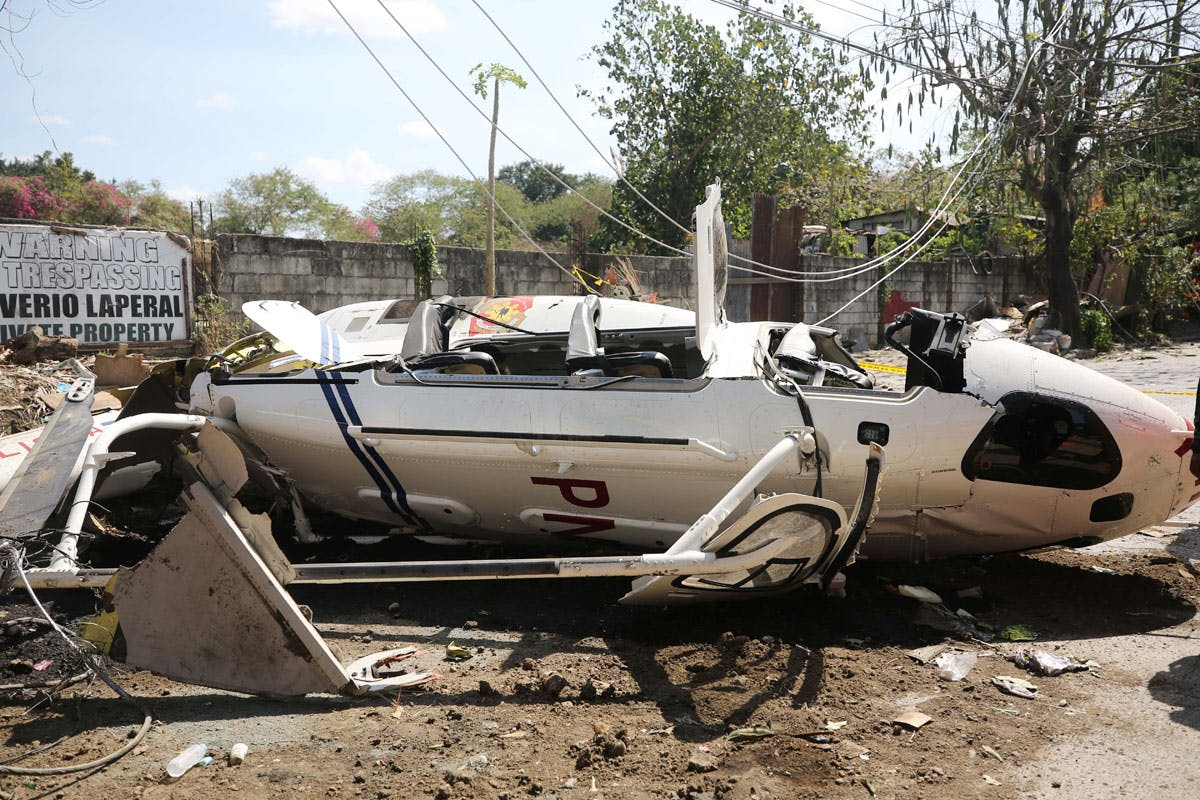 IN PHOTOS: Helicopter Crash That Left Two PNP Generals In Critical Condition