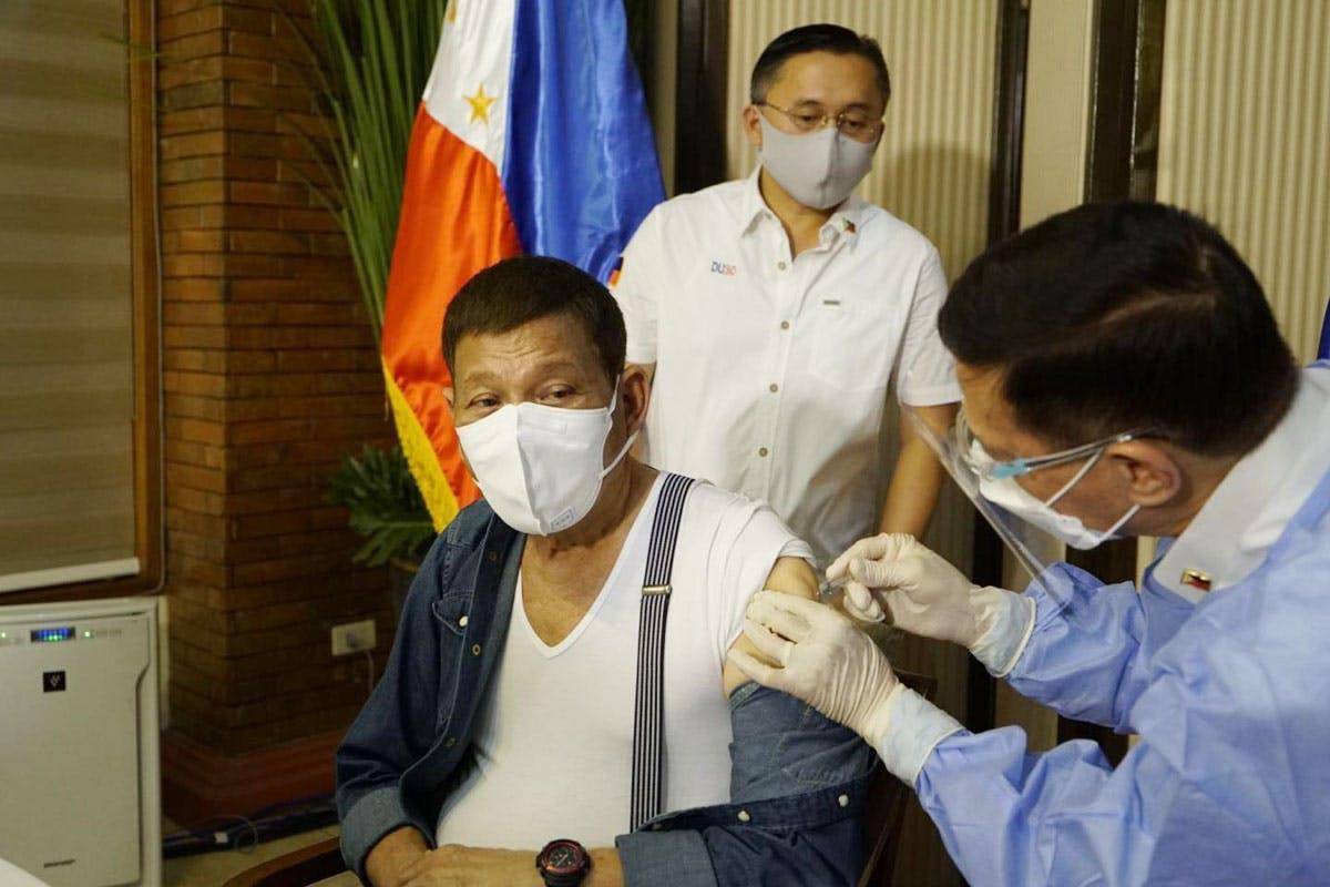 Duterte Gets Sinopharm Jab