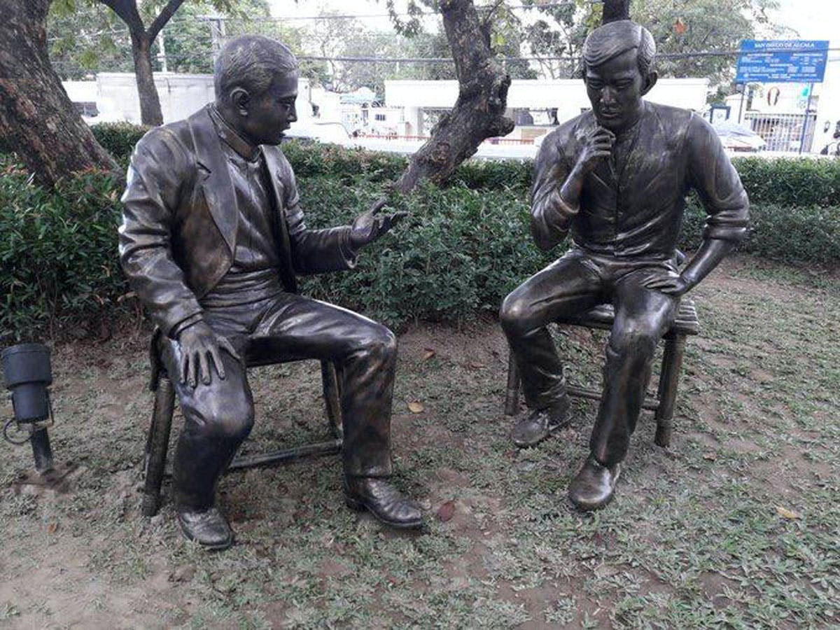 Rizal And Valenzuela's 1896 Meeting Immortalized In Park