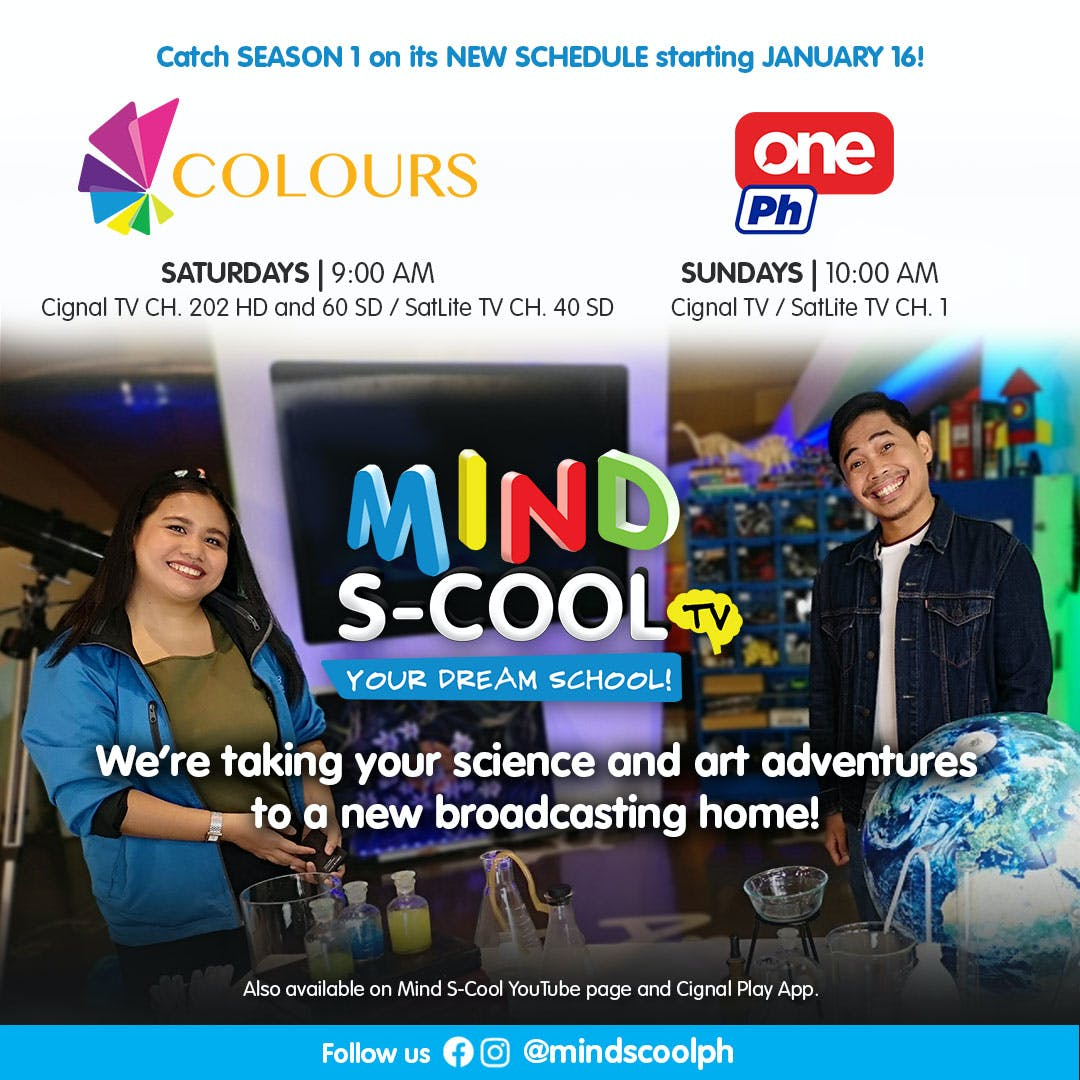 MIND S-COOL - The First Science & Art TV Show - Now In Its New Home Channels