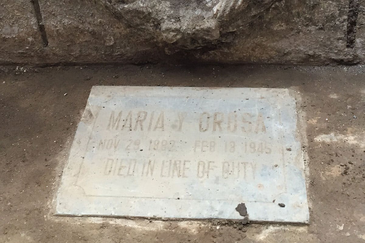Is This The Grave of Forgotten War Heroine Maria Orosa?