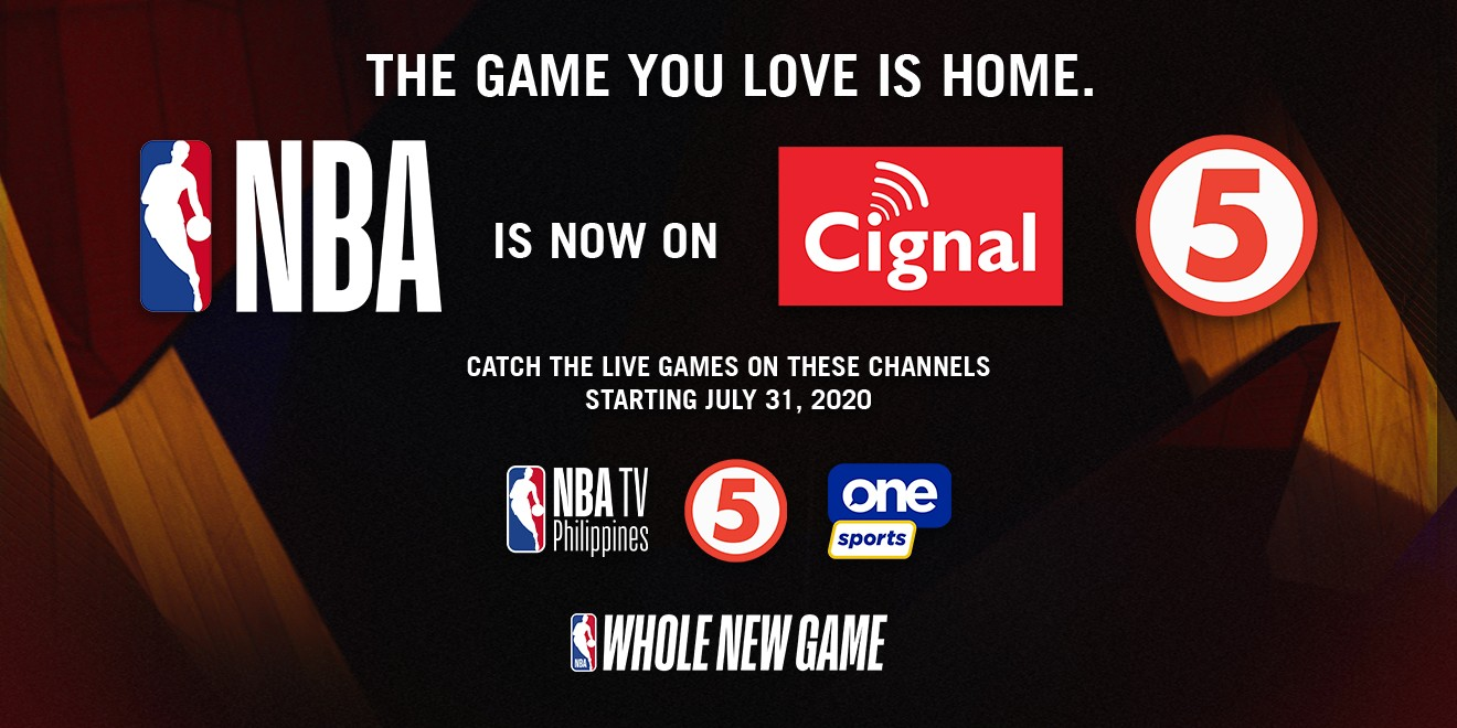 The Game You Love Is Home Cignal Tv Acquires Philippine Broadcast Rights For The Nba Onenews Ph