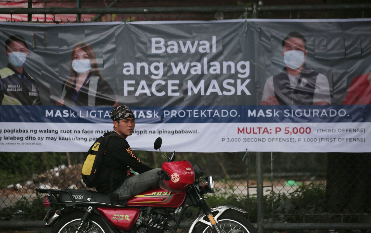 Duterte: Wear Face Mask Or Face Arrest; PNP To Intensify Operations Against Violators Of COVID-19 Protocols