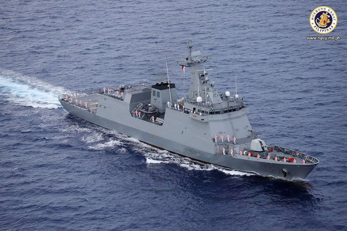 Navy Plans 50-Ship Maritime Force To Strengthen Claims On Disputed Seas; BRP Jose Rizal Arrives