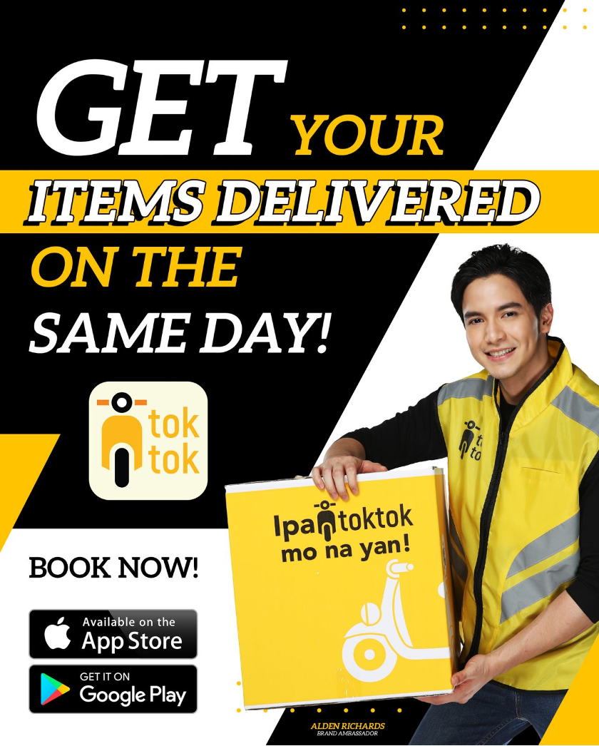 toktok delivers your items on the same day. Book your deliveries now with toktok!