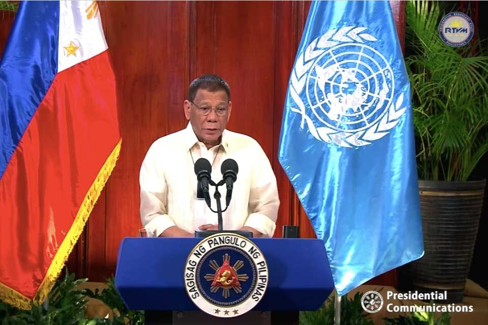 FULL TEXT: President Duterte's Statement During The General Debate Of The 75th Session Of The United Nations General Assembly