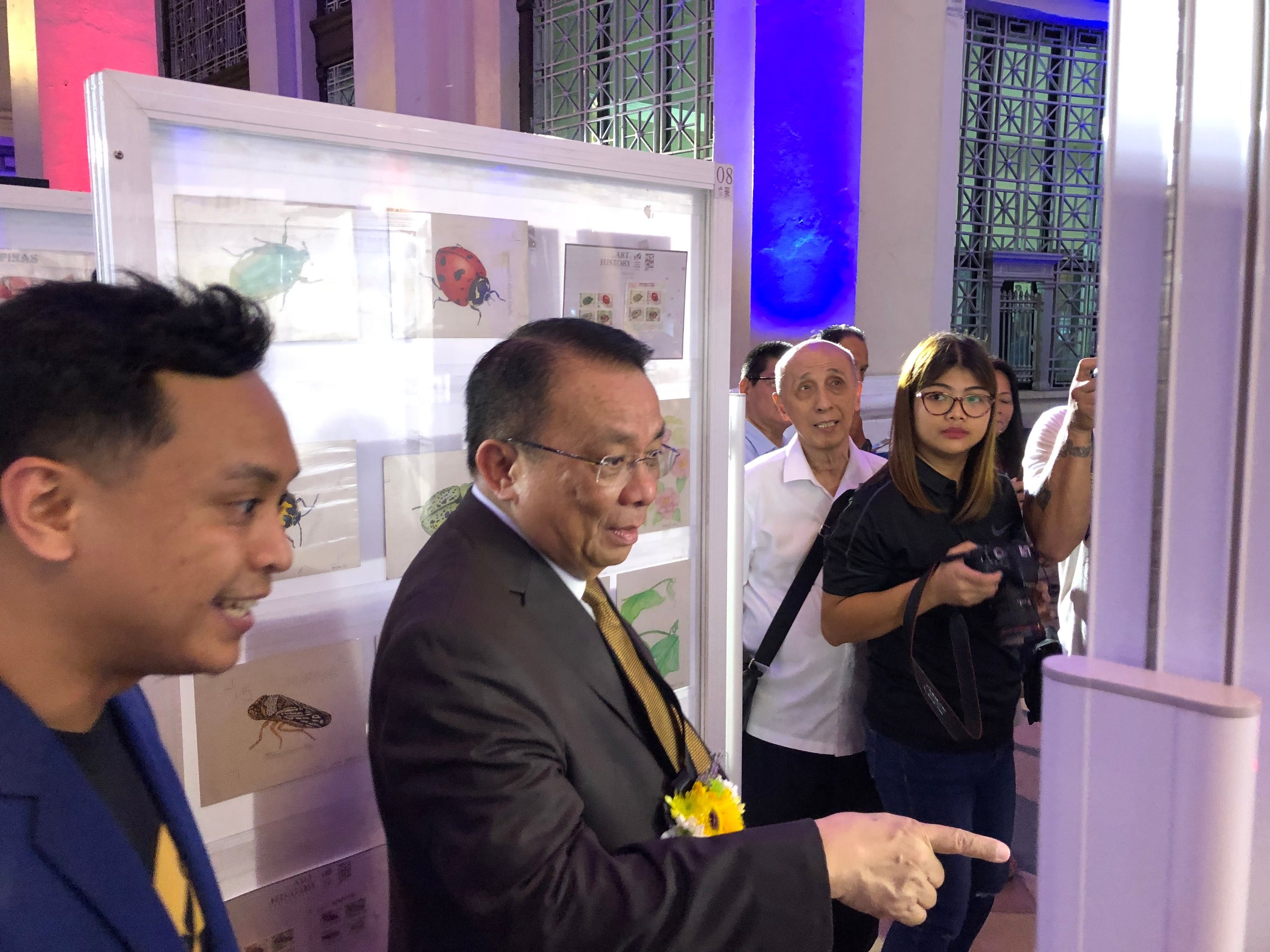 Retired Chief Justice Lucas Bersamin Resumes Stamp Collection