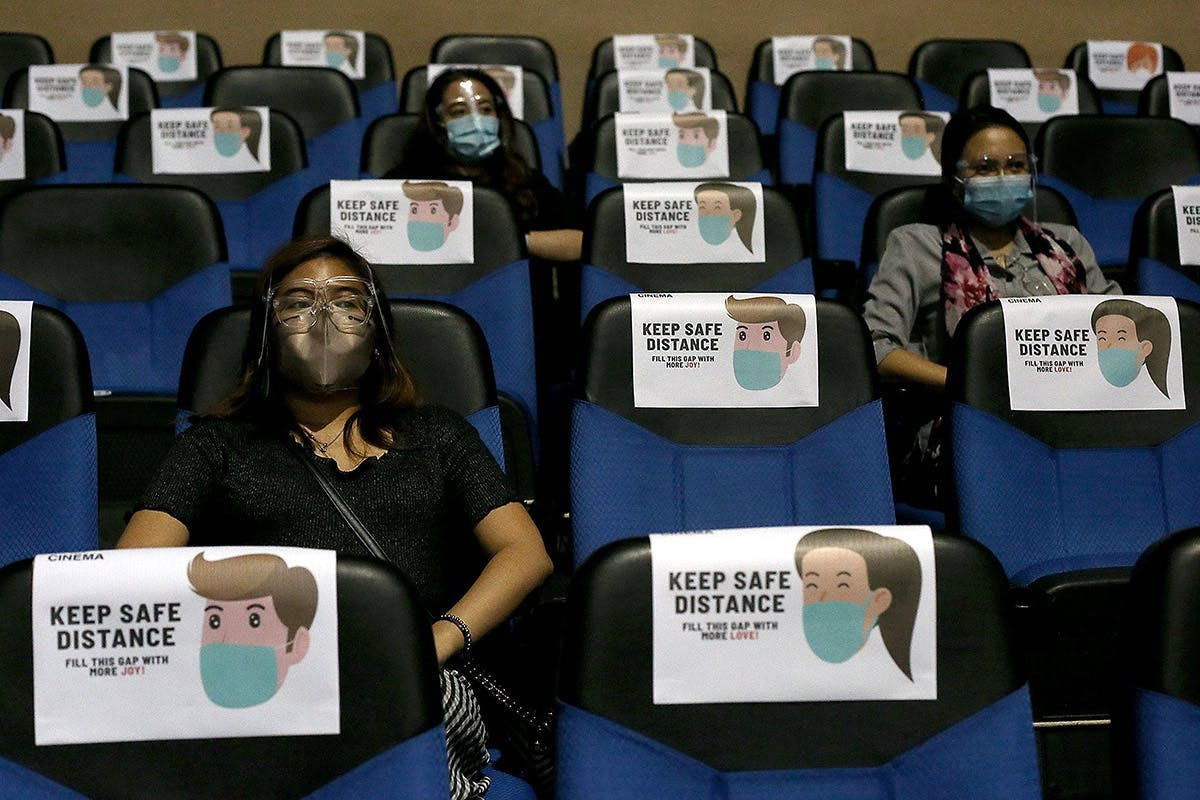 Cinemas, Spas, Gyms Allowed To Reopen At Limited Capacity As Metro Manila Is Placed Under Alert Level 3